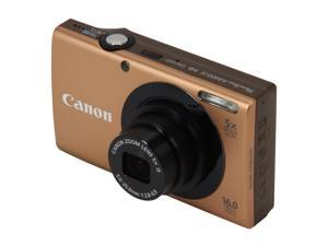 Canon PowerShot A3400 IS 6187B001 Gold 16.0 MP 28mm Wide Angle Digital Camera
