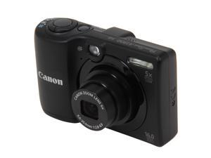 Canon PowerShot A1300 6178B001 Black 16 MP 28mm Wide Angle Digital Camera