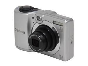 Canon PowerShot A1300 6177B001 Silver 16 MP 28mm Wide Angle Digital Camera
