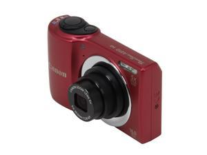 Canon A810 PowerShot 6181B001 Red 16 MP 28mm Wide Angle Digital Camera