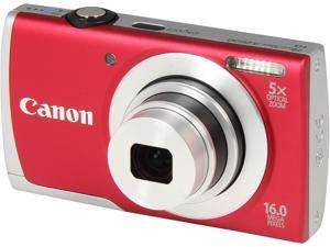 Canon PowerShot A2600 8159B001 Red 16.0 MP 28mm Wide Angle Digital Camera