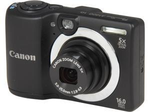 Canon PowerShot A1400 8115B001 Black 16.0 MP 28mm Wide Angle Digital Camera