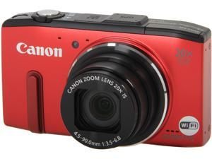 Canon Powershot SX280 HS 8225B001 Red 12.1 MP 25mm Wide Angle Digital Camera HDTV Output