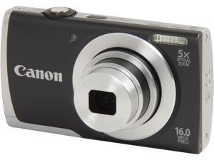 Canon PowerShot A2500 Black 16 MP 28mm Wide Angle Digital Camera