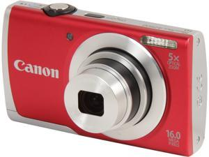 Canon PowerShot A2500 Red 16 MP 28mm Wide Angle Digital Camera