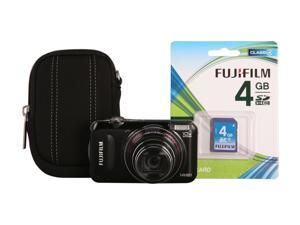 FUJIFILM FinePix T300 Black 14 MP Wide Angle Digital Camera