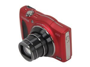 FUJIFILM F750EXR Red 16.0 MP Wide Angle Digital Camera