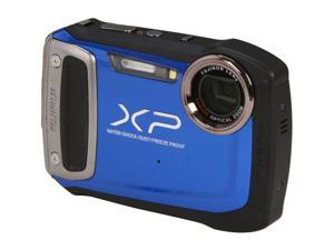 FUJIFILM XP100 Blue 14.4 MP Waterproof Shockproof Wide Angle Digital Camera