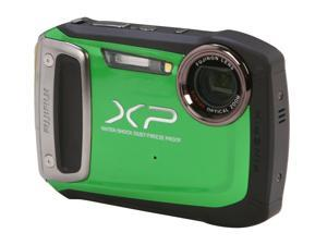 FUJIFILM XP100 Green 14.4 MP Waterproof Shockproof Wide Angle Digital Camera