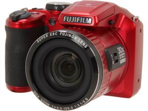 FUJIFILM FinePix S6800 16303208 Red 16.2 MP 24mm Wide Angle Digital Camera HDTV Output