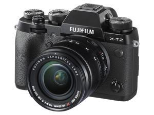 FUJIFILM X-T2 16519314 Black Compact Mirrorless System Camera with 18 - 55mm Lens