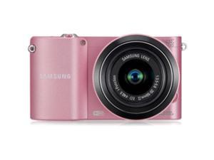 SAMSUNG NX1000 (EV-NX1000BJPUS) Pink Mirrorless Digital Camera with 20-50mm Lens