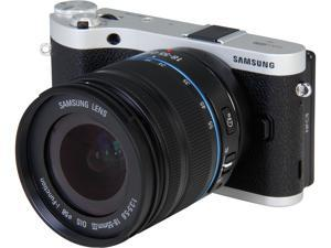 "SAMSUNG NX300 EV-NX300ZBSTUS Black 20.3 MP 3.3"" 768K Touch LCD Mirrorless Digital Camera with 18-55mm f/3.5-5.6 OIS Lens"