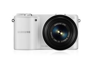 SAMSUNG NX2000 EV-NX2000BGWUS White Mirrorless Digital Camera with 20-50mm Lens and 50-200mm Lenses