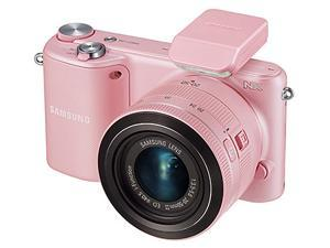 Samsung NX2000 20.3 Megapixel Mirrorless Camera (Body with Lens Kit) - 20 mm - 50 mm - Pink