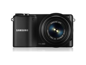 "SAMSUNG NX2000 EV-NX2000BTBUS Black 20.3 MP 3.7"" 1152K LCD Mirrorless Digital Camera with 20-50mm Lens and 50-200mm Lenses"