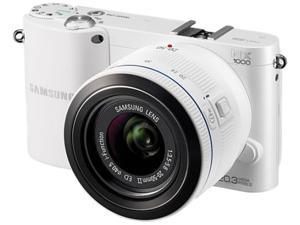 "SAMSUNG NX1000 EV-NX1000BFWCA White 20.3MP 3.0"" 921K LCD Digital Camera w/ 20-50MM"