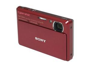 SONY Cyber-shot DSC-TX7 Red 10.2 MP 25mm Wide Angle Digital Camera