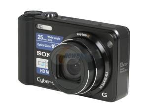 SONY DSCH70 Black 16.1 MP 25mm Wide Angle Digital Camera