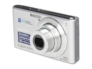 SONY DSCW530/SC Silver 14.1 MP 26mm Wide Angle Digital Camera