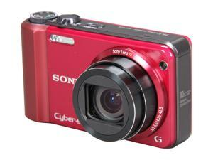SONY DSCH70/RBDL Red 16.1 MP 25mm Wide Angle Digital Camera