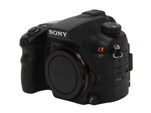 SONY alpha SLTA77V Black 24.3 MP DSLR Camera - Body Only