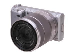 SONY alpha NEX5NK/S Silver Interchangeable Lens Digital Camera with SEL1855 Lens