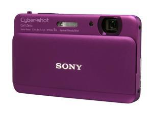 SONY Cyber-shot DSC-TX55/V Violet 16.2 MP 25mm Wide Angle Digital Camera