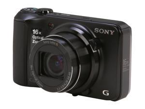 SONY Cyber-shot DSC-H90/B Black 16.1 MP Digital Camera