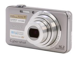 Sony DSC-WX50 Silver 16.2 MP Digital Camera with 5x Optical Zoom 1080/60i HD Video Capture
