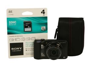 SONY Cyber-shot DSC-H90/BBDL Black 16.1 MP 24mm Wide Angle Digital Camera Bundle