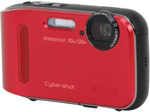 SONY DSCTF1/R Red 16.1 MP Waterproof Digital Camera
