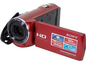 SONY HDR-CX220 HDR-CX220/R Red Full HD Camcorder