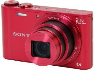 SONY Cyber-shot DSC-WX300/R Red 18.2 MP Digital Camera HDTV Output
