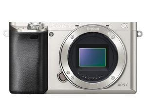 "SONY Alpha a6000 ILCE-6000/S Silver 24.3MP 3.0"" 921.6K LCD Mirrorless DSLR Camera - Body Only"