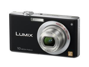Panasonic Lumix DMC-FX35K Black 10.1 MP 25mm Wide Angle Digital Camera