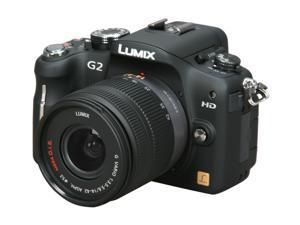 Panasonic DMC-G2 Black Digital SLR Camera with 14-42mm Lens