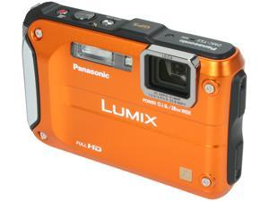 Panasonic DMC-TS3D Orange 12.1 MP Waterproof Shockproof Digital Camera