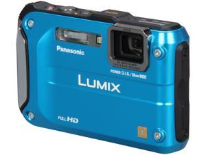 Panasonic DMC-TS3A Blue 12.1 MP 4.6X Optical Zoom Waterproof Shockproof Digital Camera
