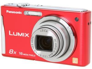 Panasonic DMC-FH25R Red 16.1 MP 28mm Wide Angle Digital Camera
