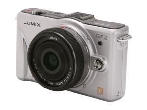 Panasonic LUMIX  DMC-GF2CS Silver Digital Camera w/ 14mm Pancake Lens ,f2.5