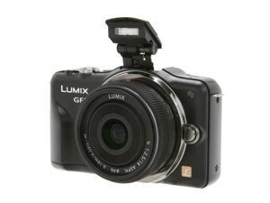 Panasonic  LUMIX DMC-GF3CK  Black  Digital  Camera w/ 14mm Lens