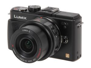 Panasonic DMC-GX1XK Black Digital Interchangeable Lens System Camera w/ 14-22mm Lens