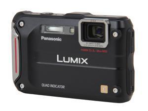 """Panasonic LUMIX DMC-TS4K Black 12.1 MP 2.7"""" 230K Action Camera"""
