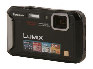 Panasonic DMC-TS20 Black 16.1 MP Waterproof Shockproof 25mm Wide Angle Digital Camera