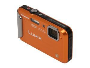 Panasonic DMC-TS20 Orange 16.1 MP Waterproof Shockproof 25mm Wide Angle Digital Camera