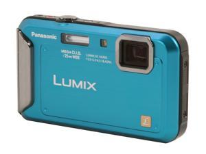 Panasonic DMC-TS20 Blue 16.1 MP Waterproof Shockproof 25mm Wide Angle Digital Camera