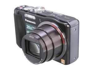 Panasonic DMC-ZS20 Black 14.1 MP 24mm Wide Angle Digital Camera