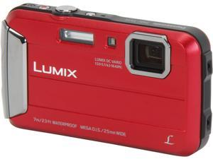 Panasonic LUMIX DMC-TS25R Red 16.1 MP Waterproof Digital Camera
