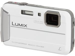"""Panasonic LUMIX TS25 DMC-TS25W White 16.1 MP 2.7"""" 230K Active Lifestyle Tough Camera"""